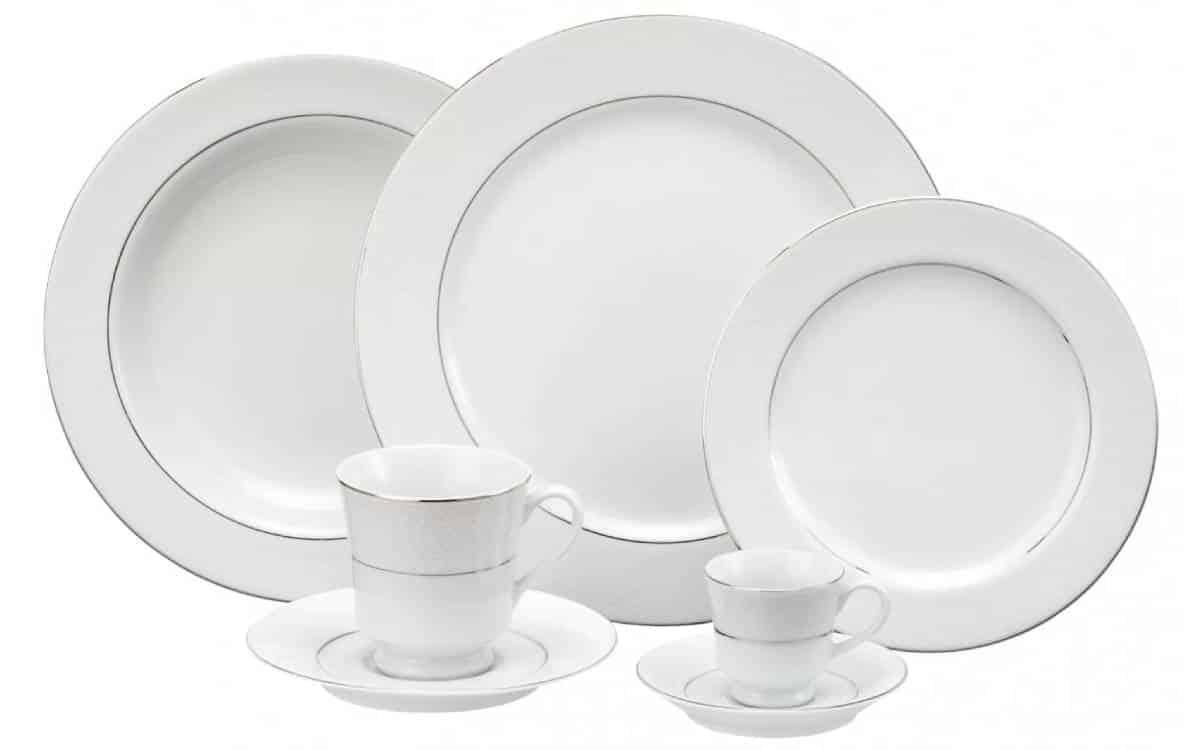 Jogo de pratos de porcelana Schmidt