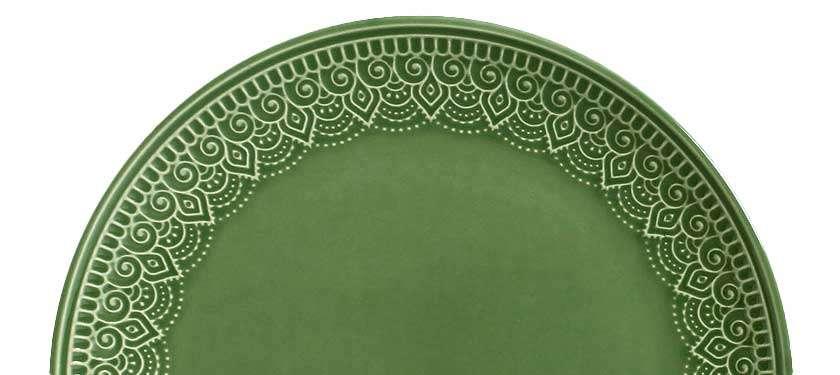 Montar uma mesa com o Prato Porto Brasil Cerâmica Verde