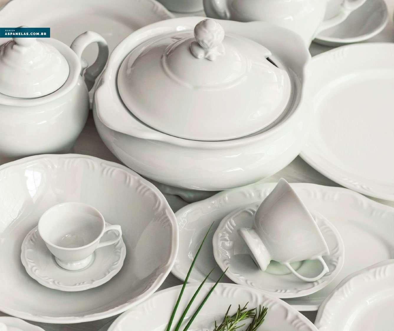 Baixela Porcelana Schmidt Pomerode Branco Promoção Oferta - As Panelas Guia de Compras