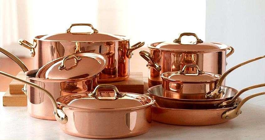 Panelas de cobre são boas opções