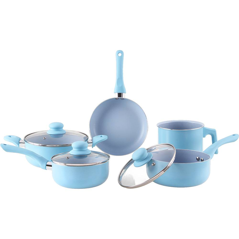 Conjunto de Panelas La Cuisine Everyday Azul Shoptime