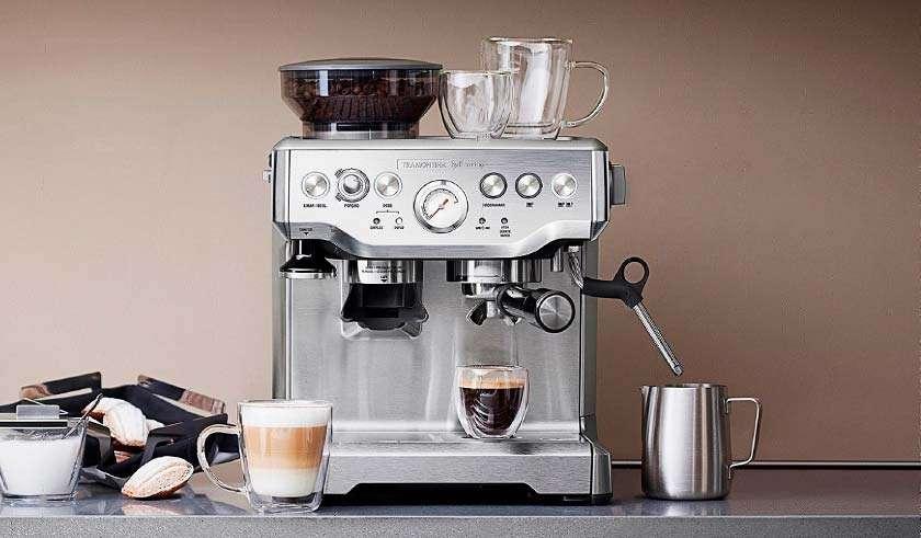 A melhor cafeteira expresso Tramontina Breville inox semi automática - As Panelas