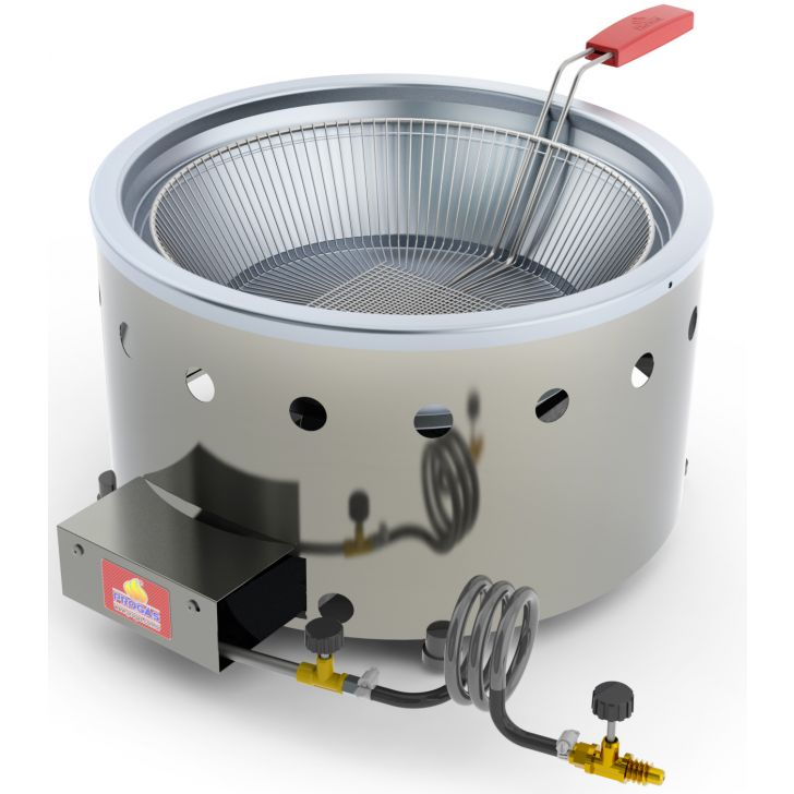 Fritadeira Tacho para Salgados Pastel 7 L Aço Inox a Gás