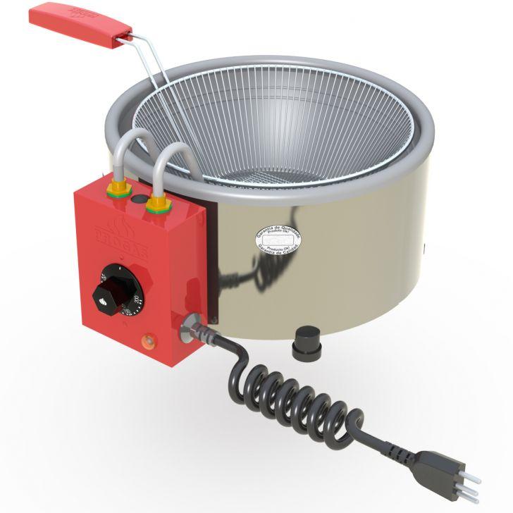 Tacho Fritadeira Elétrica Profissional Progas 3l em Aço Inox 127v