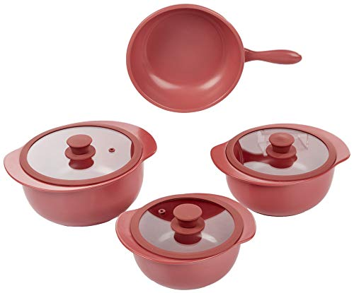 1 Conjunto 4 Panelas Rose Bm09-4504 Oxford Cookware Linea Cookware Rose