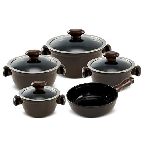 Conjunto Chef 5 Pcs - Chocolate Ceraflame Chef Chocolate 58x57x18, 5