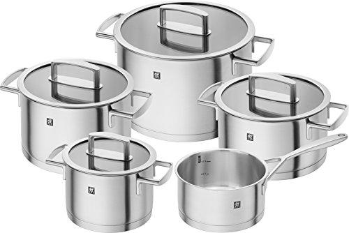 Conjunto de Panelas em Aço Inoxidável, 5 Peças, ZWILLING J.A. Henckels, 664600000, Pratead