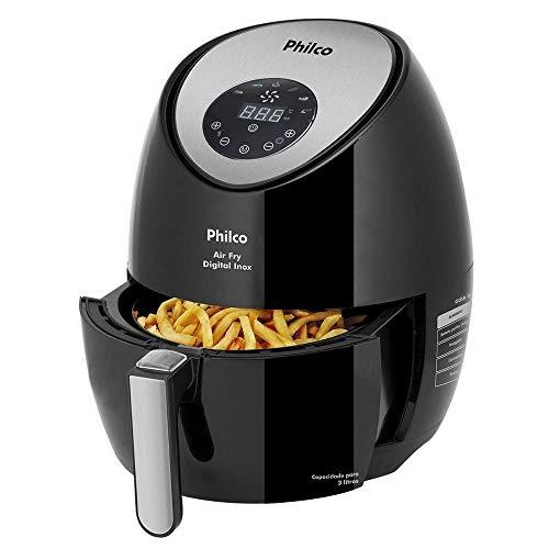Fritadeira Air Fry Digital Inox, 1400w, 220v, 53802024 Philco Preto/Prata