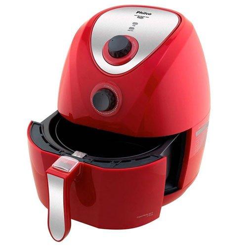 Fritadeira Air Fry Saude Inox, 1400W, 220V, Philco, 53802030, Vermelho