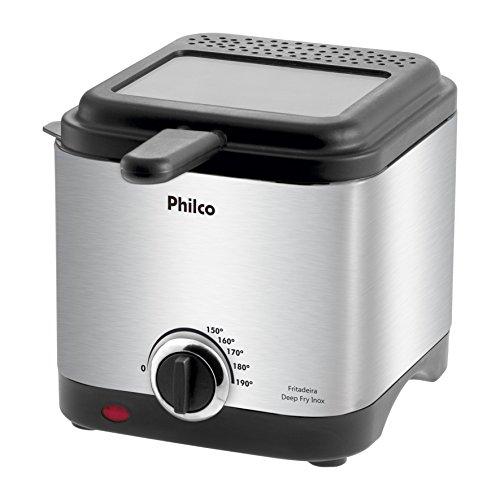 Fritadeira Deep Fry Inox, 127V, Philco 53801033, Preto, Philco, 53801033, Preto