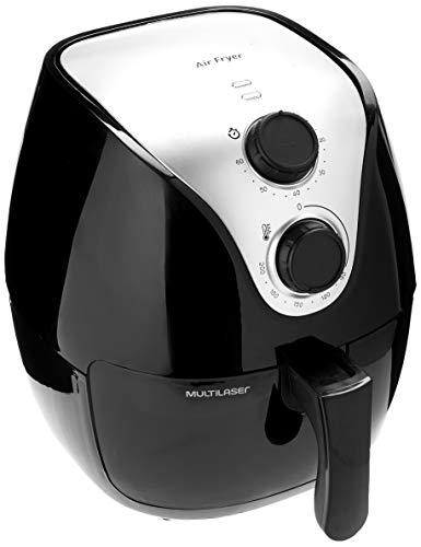 Fritadeira Elétrica Air Fry Gourmet 127V com 1500W Capacidade de 4 Litros Preta Multilaser - CE021