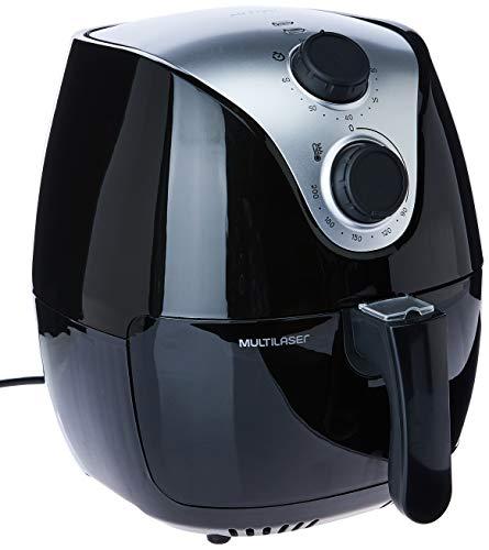 Fritadeira Elétrica Air Fryer Gourmet 127V com 1500W 2,5L e Antiaderente Preta Multilaser - CE13