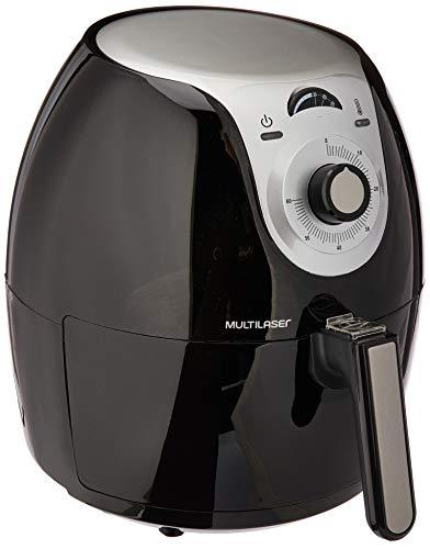 Fritadeira Elétrica Air Fryer Gourmet 127V com 1700W Capacidade de 5,5 Litros Temperatura 80 POL a 200°C Preta Multilaser - CE051