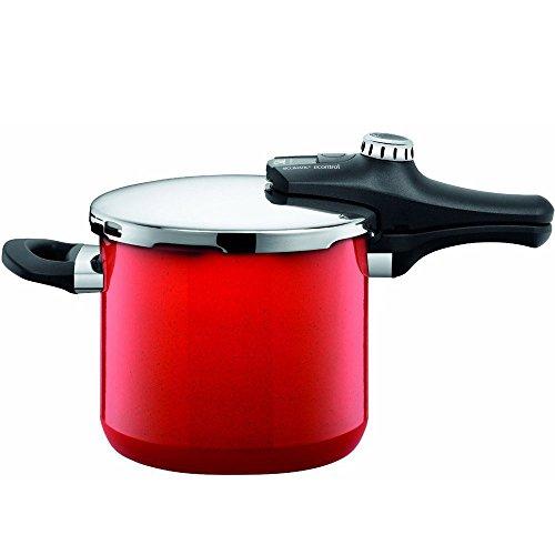 Panela de pressão de silargan Econtrol Silit vermelha 6,5 litros - 20928