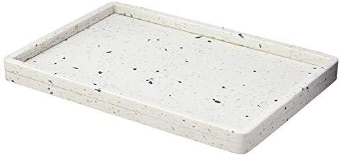 Bandeja De Mármore Terrazzo 30x20x2cm Lyor Branco E Preto No Voltagev