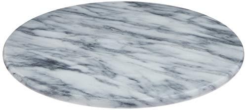 Bandeja Giratoria Redonda, De Marmore - 30cm Holar Branco