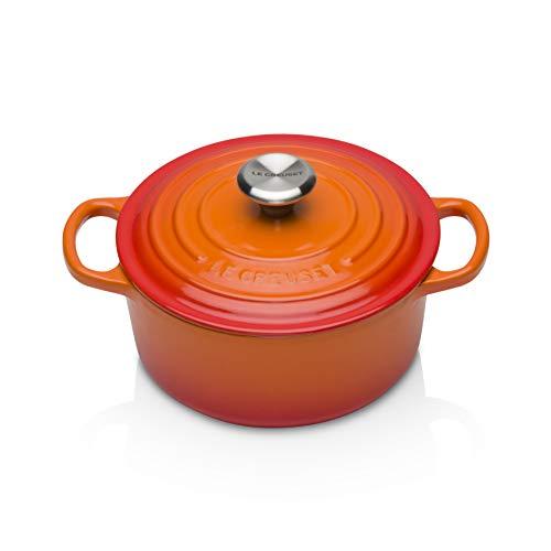 Panela de ferro redonda Signature Le Creuset laranja 18 cm 1,8 litros - 25213