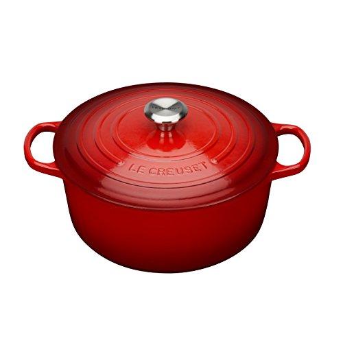 Panela de ferro redonda Signature Le Creuset vermelha 20 cm 2,4 litros - 25039