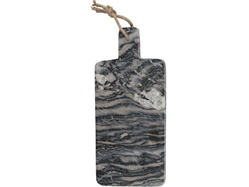 Tabua Para Servir Em Marmore Cinza 19X38x1 Creative Tops