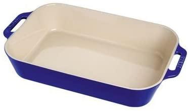 Travessa Retangular 20X16Cm Azul Marinho Ceramica - Staub - 405108130