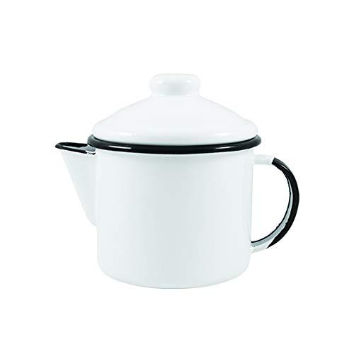 Bule para chá 10 Esmaltado Branco 600 ml - Ewel
