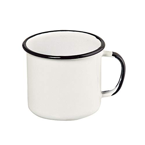 Caneca 8 Esmaltado Branco 370 ml - Linha Ewel