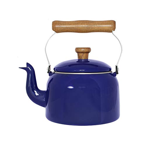 Chaleira Tradicional 16 Esmaltada Azul - 1800 ml - Ewel