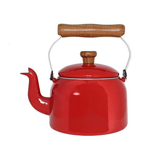Chaleira Tradicional 16 Esmaltada Vermelha - 1800 ml - Ewel