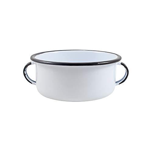 Consomê Esmaltado Branco - 600ml - Ewel