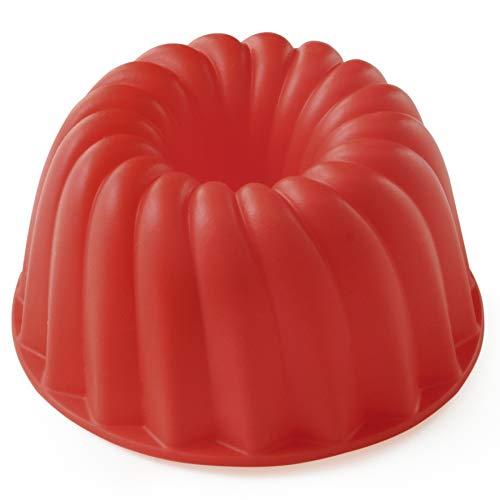 Forma De Silicone Para Pudim Pequeno, Vermelho, Mimo Style