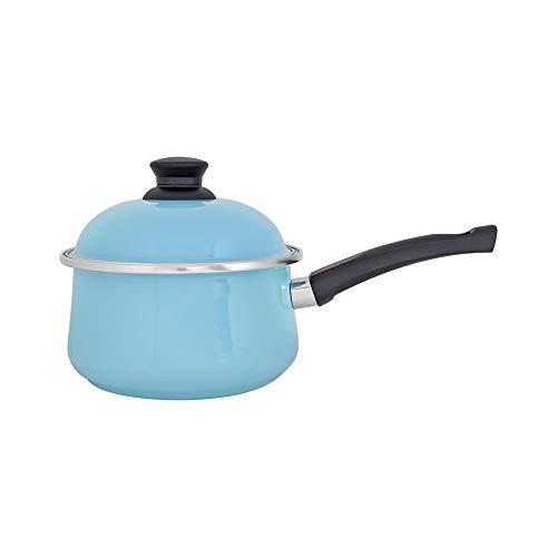 Panela Bojuda 18 Esmaltada Azul Claro - 1850 ml - Ewel