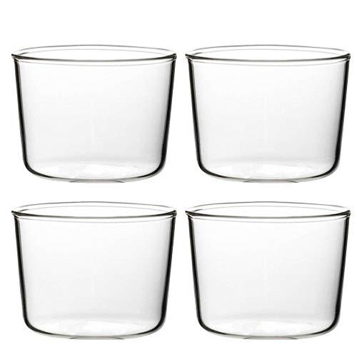 UPKOCH 4 Unidades de Mini Tigela de Sobremesa Simples Copos de Cupcake de Vidro Reutilizáveis ??Tigelas de Servir para Pudins Condimentos Snacks 200Ml