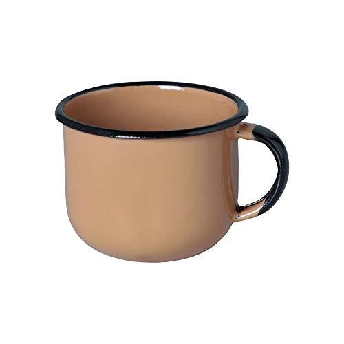 Xícara 6 Esmaltado Marrom 120 ml - Ewel