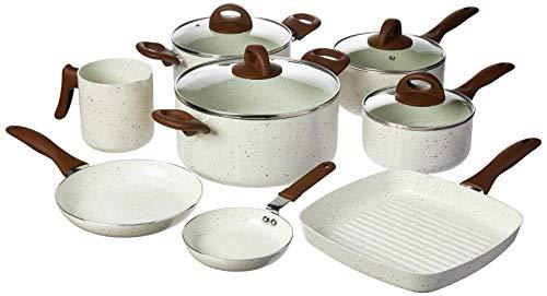 Conjunto de Panelas, Ceramic Life Smart Plus, Pacote de 8, Branco, Brinox
