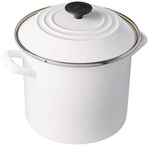 Stock Pot, , Branco, Aço Carbono Esmaltado. Le Creuset