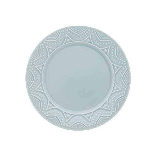 1 Cj C/6 Pratos De Sobremesa 20 Cm Serena Essence - Nm25-7601 Oxford Daily Azul Claro