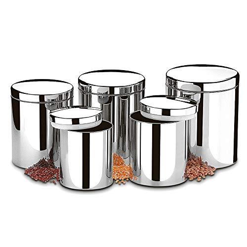 Conjunto de Potes para Mantimentos com Tampa, 5 Peças, Suprema, Brinox