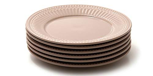 Jogo com 6 pratos rasos, Noz-moscada, Coleção Especiarias, Acervo Panelinha