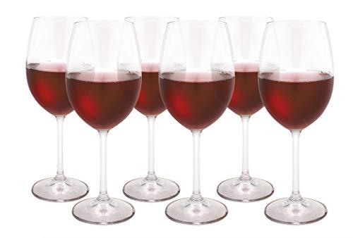 Jogo de 6 Taças Para Vinho Tinto Gastro, Bohemia, Transparente, 450ml