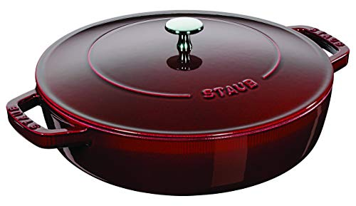 Panela de Ferro Staub Risoto Chistera Vermelho Granada 28CM