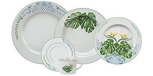 Serviço Jantar E Chá 30 Peças Porcelana Schmidt Diversos. Decoração Tropical. Assinada Por Samuel Cirnansck Multicor Pacote De 030