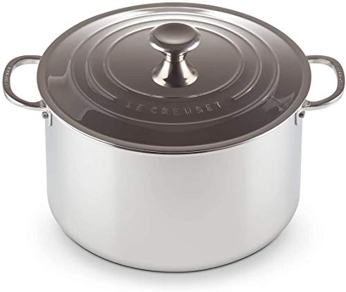 Stock Pot 3-PLY 28cm, Aço Inox, Le Creuset