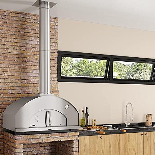 Forno de Pizza a Lenha Gourmet Nápoli Inox 815IN Metávila