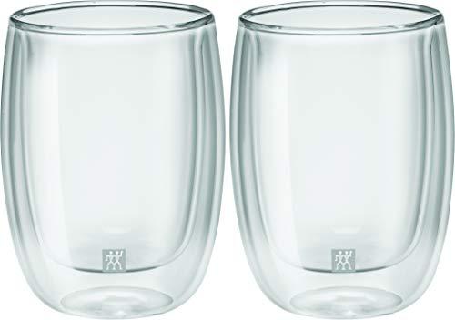 Jogo com 2 Copos, Vidro de Parede Dupla, Cappucino, Transparente, 200 ml, ZWILLING Sorrento