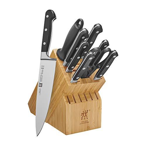 ZWILLING Conjunto profissional de bloco de facas S, 10 peças, bambu